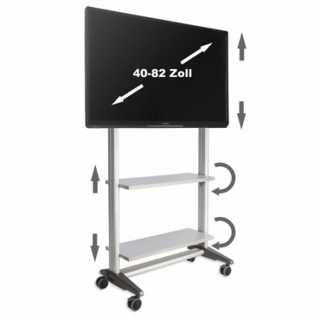 TV Rollwagen MultiRack MR 1600 für LCD LED Monitore