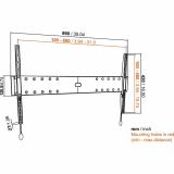 Vogels Base 05 L flache Wandhalterung für 40-80 Zoll Monitore