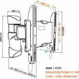 Vogels Base 25 S drehbare Wandhalterung für 19-43 Zoll Monitore