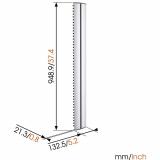 Vogels Cable 10 L Säulensystem 94 cm Länge