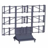 Vogels PFT 8810 Videowall Rollwagen für 3x3 Monitore 46-55 Zoll