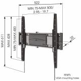 Vogels EFW 8206 TV Wandhalter flach für 32 - 55 Zoll Monitore
