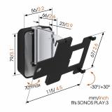 Vogels SOUND 4203 Wandhalter für Sonos PLAY:3