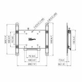Vogels PFW4200 LCD/Plasma-Wandhalter für 19-43 Zoll