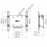 Vogels PFW4210 LCD/Plasma-Wandhalter für 10-43 Zoll