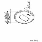 Vogels PFA 9108 Weiße Deckenblende für Profile der PUC 25xx Serie