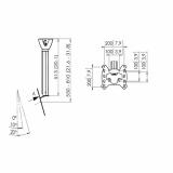 Vogels PFC 555 Display-Deckenhalter für 19-43 Zoll