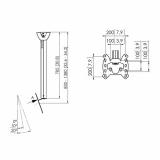 Vogels PFC 585 Display-Deckenhalter für 19-43 Zoll