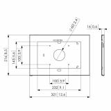 Vogels Tablock Gehäuse PTS 1217 Samsung Galaxy Tab S 10.5 Home-Taste zugänglich